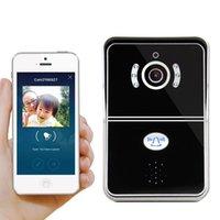 Wholesale Door Security Wifi Camera - eBELL 2017 Home Security Smart WiFi Video Doorbell With 720P HD Camera Motion Sensor Alarm Free App To Unlock Door Black