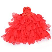 Wholesale beautiful toys for girls online - Beautiful Evening Dress For Barbie Doll Wedding Dress Furniture For Dolls Puppet Clothes For Barbie Dolls Accessories