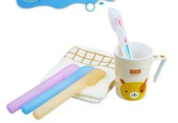 Wholesale toothbrush box travel - Food grade silicone dust proof toothbrush covers Multicolor portable toothbrush box Useful travel toothbrush protection tools