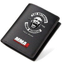 cash business - Conor McGregor wallet Sport purse Mixed Martial Arts short long cash note case Money notecase Leather burse bag Card holders