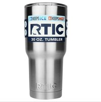 Wholesale Double Wall Tumblers - RTIC Cups 30oz Stainless Steel Cup Double Wall Travel Mug Tumbler Cup Cooler Double Wall Vacuum Insulated Cups OOA2167