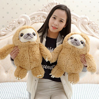 Wholesale Baby Plush Teddy Bear - plush Simulation Baby Doll Lifelike Sloth Plush Toys Stuffed Dolls Kids Toys Lovely Doll Girlfriend Best Gifts Brinquedos WW36