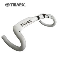 Wholesale Carbon Fiber Handlebar White - Tmaex-Full Carbon Fiber Road Bicycle Handlebar Bike Handle Bars Carbon Handlebar Road Bicycle Parts white 400 420 440mm