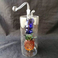 Wholesale Large Pineapple - Colorful large pineapple waterahu glass bongs accessories , Wholesale glass bongs accessories, glass hookah, water pipe smoke free shipping