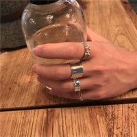 Wholesale European and American modern s925 pure silver ring Kong hyo jin with style fashion trend in personality adjustable for men and women