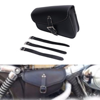 sportster saddlebags - Motorcycle Right side Black PU Leather Left side Saddlebag Saddle Bag Luggage Bag Fit For Harley Sportster XL XL