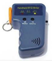 Wholesale Id Writer - Wholesale- Writable Key Tags keyfob 125KHz EM4100 EM410X ID Card Handheld RFID Copier Writer Duplicator+5PCS Writable card Wholesale