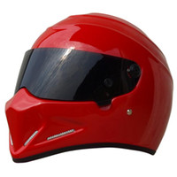 Wholesale Top Half Helmets - 2017 Wholesale price Top quality Full face Fiberglass SIMPSON Motorcycle Helmets The STIG Helmet Motorbike Kart Casco Capacete DOT approved
