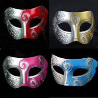 Adultos Man Retro Roman Greek Príncipe King Warrior Mask Venetian Mardi Gras Masquerade Party Half Face Mask