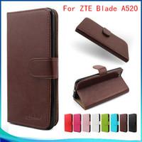 zte bıçak ağacı deri toptan satış-ZTE Blade A520 Samsung galaxy X Için COVER4 Cüzdan kılıf flip PU Deri Tutucu Kapak