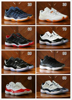 Wholesale Tuxedo Lace - Wholesale 2017 Retro 11 XI Low BARONS Limited Tuxedo Black men basketball shoes retro 11 women sports shoes airs 11s big boy sneakers