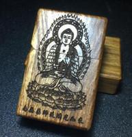 Wholesale Shell Kerosene - Kerosene lighter wood shell Such as come south medicine guru lapis lazuli light Woodcarving + brand metal lighters
