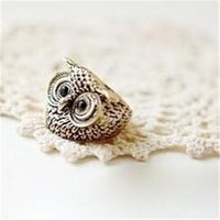 Wholesale Owl Ring Retro - Min.order is $15 (mix order) -European And American Fashion Personality Retro Owl Ring Alloy Ring Factory Direct-j081