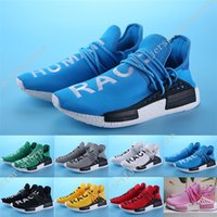 Wholesale Nipple Out - Hot BB3068 Yellow HUMAN SPIECES 8 colors Pharrell Williams X NMD HUMAN RACE Top REAL BOOST Bottom With Nipples Mens Running Shoes size 36-45