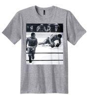 Wholesale Ali Shirt - New Muhammad Ali Joe Frazier Knockdown Photo T-Shirt For Man Hipster O-Neck Causal Cool Tops