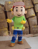 Wholesale Handy Manny Costume Mascot - T2196 free ship tool boy Handy Manny Mascot Costume Cartoon Character Costume Game toy men unisex Adult size Free Shipping
