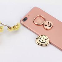 Wholesale Skull Ring Rose - Halloween Pumpkin Ghost Skull Grimace Pikachu Universal Mobile Phone Ring Stand 360 Degree Metal Finger Grip with Car Magnetic Holder