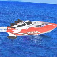 model yelkenli gemiler toptan satış-Yüksek Hızlı Uzaktan Kumanda Tekneler Elektrikli Plastik Oyuncaklar Model Chirldren için Gemi Yelken RC Tekne Gemi