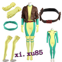 Wholesale custom cosplay outfits - Custom Made Type X-Men Rogue Cosplay Costume Full Suit Any Size Perfect Outfit High Quality Free Shipping