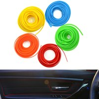 Wholesale Decoration Trim Line - 5M Universal Car Styling Flexible Interior Internal Decoration Moulding Trim Decorative Strips Line DIY 5 Colors CDE_00M