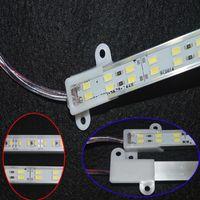 ingrosso guscio di alluminio-5630 Led Strip Bar Light Lega di alluminio Shell impermeabile Led Light 1M 0,5 M Warm White Cool striscia di luce bianca con doppia fila