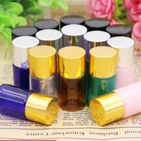 5ml Flat Shoulder Perfume Lotion Bottles Mini Trial Pack Embalagem Empty Cosmetic Sample Container fast shipping F20171747