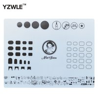 Wholesale Stamping Mats - Wholesale- YZWLE 1 Sheet Silicone Stamping Mat 40.5cm*30.5cm Foldable Washable Pad Nail Art Tool For Manicure, 3 Styles For Choose
