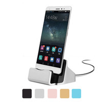 Wholesale Desktop Cradle Sync - Dock Charger USB Sync Data Cable Docking Station Charging Desktop Cradle Stand for Android Type-c Mobile Phones Universal
