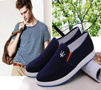 Wholesale Crown Court - Europe new fashion Street tide men Crown printing blue black canvas casual shoes Muffin bottom Sewing Elastic band noble shoes,size39-44