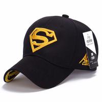 Wholesale superman sun cap resale online - New Hot Sale Superman Mens Baseball Caps Brand Snapback Women Sun Hats For Men bone aba reta