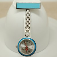 Wholesale Metal Fob Watches - Wholesale-New Metal Portable Nurse Watch with Safety Clip Pendant Hanging Pocket Nurse Fob Watch Relog Luminous Glow in Dark