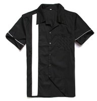 Wholesale Free Shirts Online - Wholesale- Vintage Shirts UK Spring&Summer Cotton Short Sleeve Mens Casual Shirts Classic Black Color Plus Size OnLine Store Free Shipping