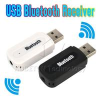 mini hifi para iphone 5s al por mayor-Venta al por mayor - Alta calidad USB Bluetooth Adaptador de audio receptor de audio estéreo de 3,5 mm a caja de sonido de altavoz para Apple iPhone 4/5 / 5S / 6 Plus