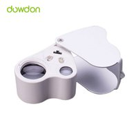 Wholesale 50pcs Dual Lens X X Handheld Mini Pocket Microscope Loupe Jeweler Magnifier LED Light Fantastic