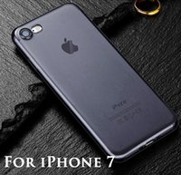 Wholesale Dust Plug Silicone - Ultra Thin Slim Clear Crystal Soft TPU Silicone Rubber JELLY Candy Color Transparent Case Cover Skin for iPhone 8 7 Plus with NO Dust Plug