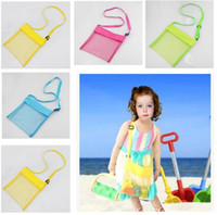 Wholesale Buggy Pouch - Kids Toys Beach Mesh Bags Sand Water Away Tote Pouch Handbag Buggy Storage Bag Mesh Shell Beach Bags Sandpit Beach Receive Bag