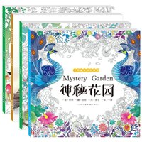 Wholesale Journey Toys - Coloring Book Decompression Novelty Painting Books Magical Forest Hand Painted Time Journey Mystery Garden Fairy Dream Colour 5 3hy H1