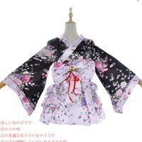 Wholesale Teto Cosplay - Malidaike Anime Vocaloid Teto Sweet Lolita Dress Short Kimono Cosplay Costume Cherry Blossoms Printing