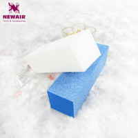 Wholesale White Block For Nails - Wholesale- 2pcs\lot Professional Nail Tools Blue and White Mix Sale Plastic Nail File Buffer Sanding Blocks for Nail Art
