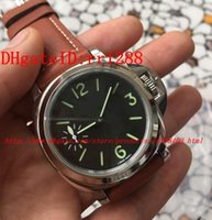 Wholesale Pam Sapphire - NEW Luxury New Products Mens Watch Auto Date Mechanical Pam 111 Steel Men's Leather Dive Watches