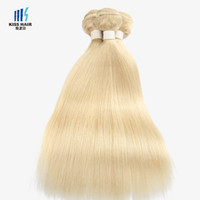 Wholesale Hair Extension 613 - 100g Color 613 Lightest Blonde Bleach Blonde Extensions Remy Hair Bundles Silk Straight Body Wave Quality Human Hair Weave