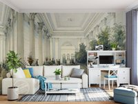 Wholesale Architectural Wedding - custom photo luxury 3d wallpaper European style hand painted architectural landscape background 3d wall paper for living rooms