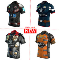 Wholesale Rugby Cowboys - Brisbane Broncos Manly Sea Eagles Melbourne Storm Newcastle Knights North Queensland Cowboys Sydney Roosters Wests Tigers rugby Jersey S-3XL