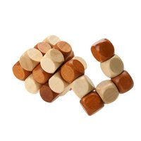 Funny Chinese Traditional Wooden Educational Toys pour enfants adultes Intelligence Education Puzzle Lock Enfants Baby Wood Toys