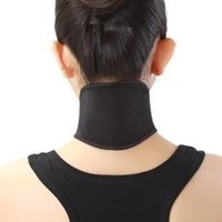 Wholesale Tourmaline Magnetic Neck Support - 500pcs Health Care Self Heating Tourmaline Magnetic Neck Heat Therapy Support Belt Wrap Brace Massager Slim Equipment Free Shipping