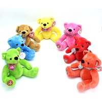 Wholesale Wholesale Easter Teddy Bears - 2017 seven colors teddy bear retro plush toy doll for pillow gift home furnishings birthday gift new