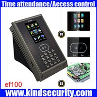Wholesale Zk Software - Wholesale- SSR biometric time attendance time clock ZK EF100 TCP IP face time attendance terminal with free software