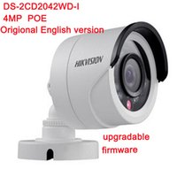 Wholesale ip camera outdoor wdr - DHL free Original DS-2CD2042WD-I Full HD 4MP High Resoultion 120db WDR POE IR IP Bullet Network CCTV Camera English Version