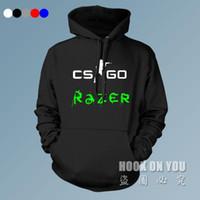 Wholesale team belt - Wholesale- Gaming Razer CSGO Hoodies casual game sweatshirts Athletics electronic Men coat women winter autumn Game Team