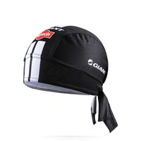 Wholesale Headband Bike Cycling - GIANT ALPECIN Pro Team Black Cycling Headbands Scarf cap Bicycle Bike Bandana Accessories Breathable Cycling Hat